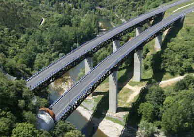 Viaductos sobre el río Nalón. Asturias (España)