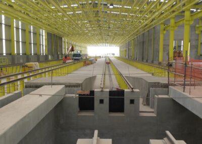 NAVES TALLER DE MANTENIMIENTO DE TRENES. Naves taller de trenes de alta velocidad línea Meca-Medina. Medina (Arabia Saudí)